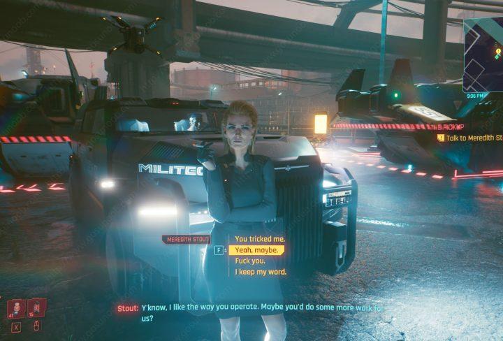 meredith stout romance cyberpunk 2077