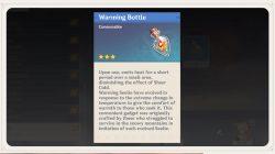 warming bottle genshin impact