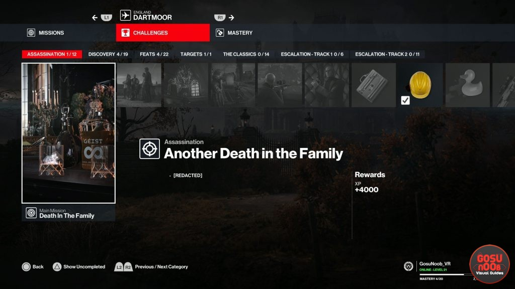 another death in the family hitman 3 trophy