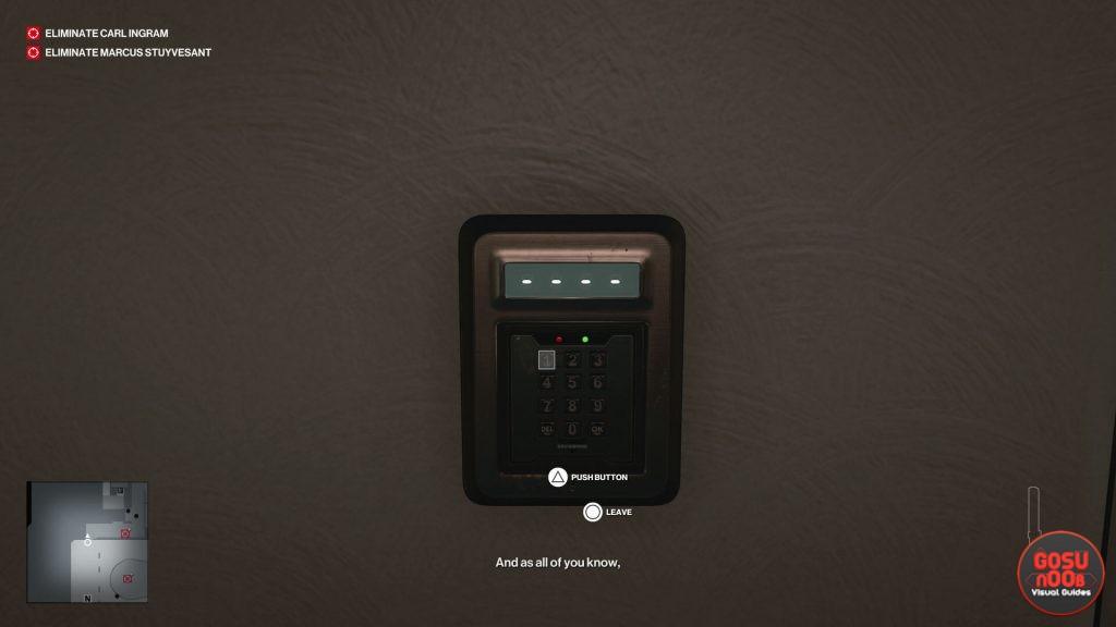 hitman 3 dubai keypad & safe code