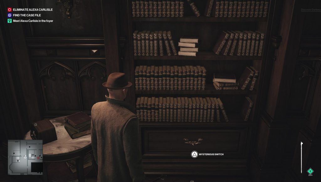 hitman 3 mysterious switch dartmoor secret room