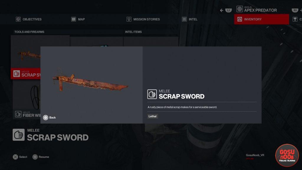 hitman 3 scrap sword