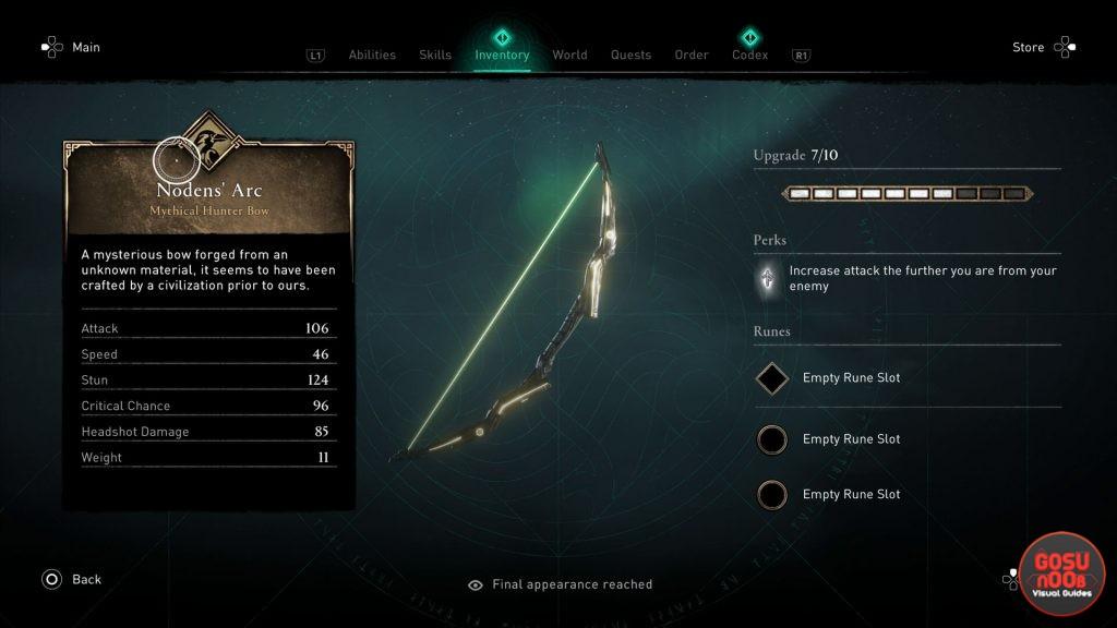 isu weapons ac valhalla secret isu bow