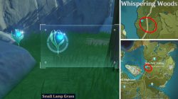 Five Flushes of Fortune Blue Item small lamp grass Location Genshin Impact