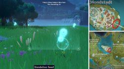 Genshin Impact Blue Item Locations dandelion seed
