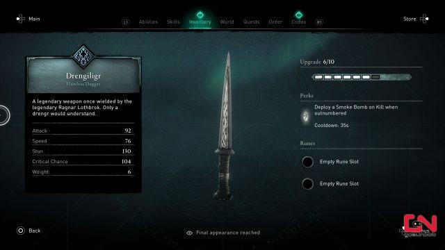 ac valhalla drengiligr ragnar legendary dagger