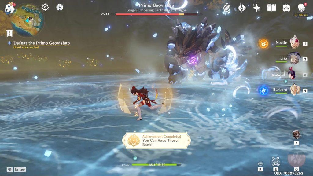 genshin impact 1.3 hidden achievements