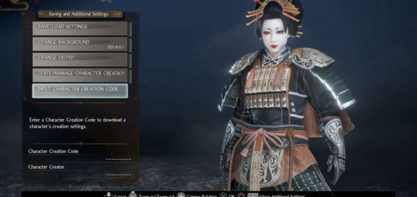 nioh 2 character creation code from ps4 to pc