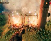 valheim how to cook meat & start fire on cooking station
