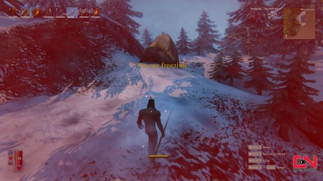 valheim warm clothes mountain freezing