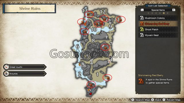 MHR Firelanterns Roly Poly Lanterns Monster Hunter Rise locations map