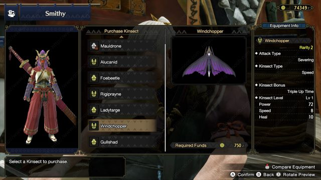 MHR How to Upgrade Kinsect in Monster Hunter Rise