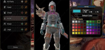 Monster Hunter Rise Change Armor Color