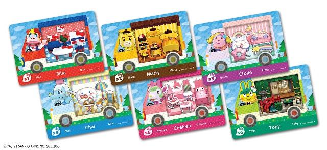 animal crossing hello kitty items villagers amiibo cards