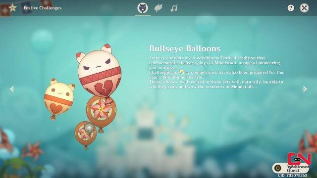 bullseye balloon genshin impact windblume festival