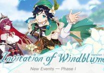 genshin impact update 1 4 invitation of windblume release date & time