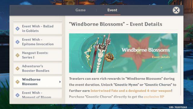 genshin impact windborne blossoms