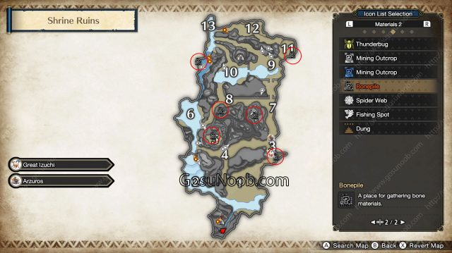 mhr twisted remains location map monster hunter rise