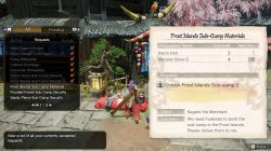 monster hunter rise sub camp 2 materials how to unlock