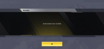 Call of duty mobile Authorization Error 5 1200