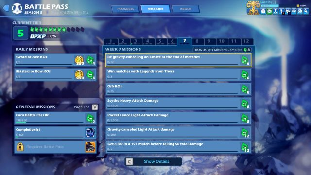 brawlhalla legends from thera weekly mission