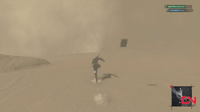 desert sandstorm too intense to go any further nier replicant