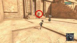 nier replicant desert sandstorm too intense how to return to barren temple