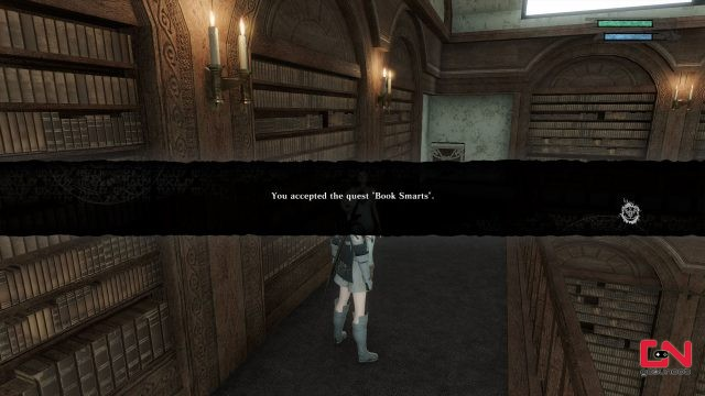nier replicant place blue & red books for book smarts quest