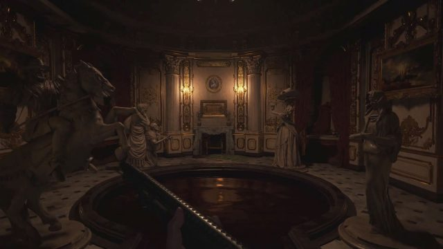 statues puzzle hall of ablution resident evil 8 village