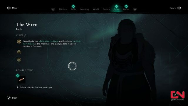 wren clues ac valhalla wrath of the druids