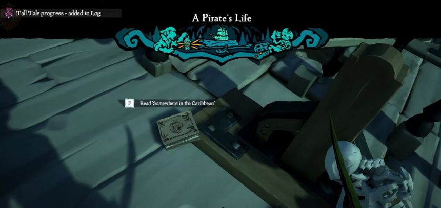 Headless Monkey Journal Locations - A Pirate's Life Sea of Thieves
