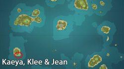 Kaeya, Klee & Jean Location