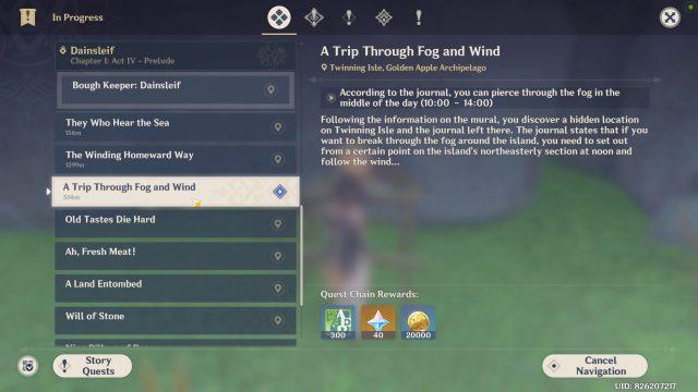 Trip Through Fog and Wind Genshin Impact