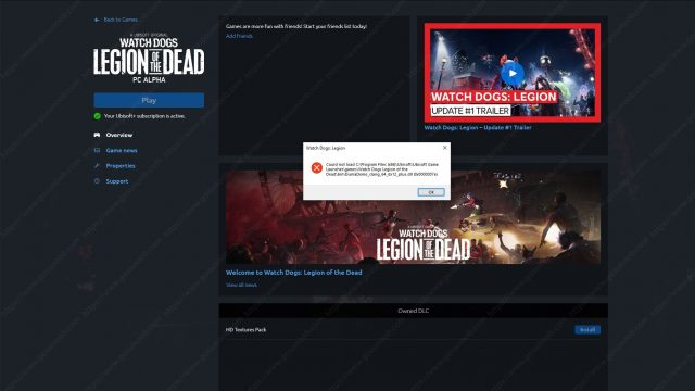 Watch Dogs Legion of the Dead Could Not Load DuniaDemo_clang_64_dx12_plus dll Crash