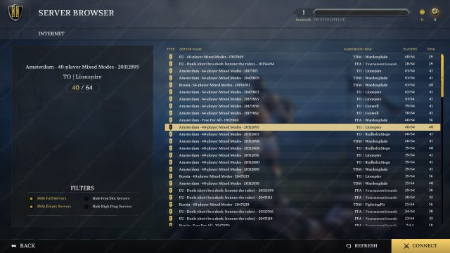 Chivalry 2 Server Browser