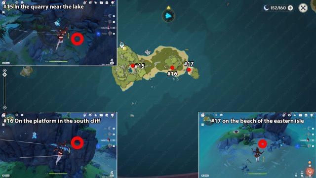 day 2 genshin impact minacious isle echoing conch locations map