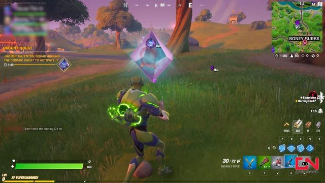 fortnite how to open cosmic chest & locations