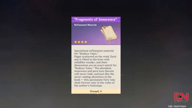 fragments of innocence genshin impact