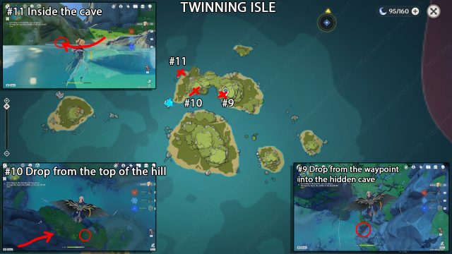 genshin impact echoing conches twinning isle part 2 locations map