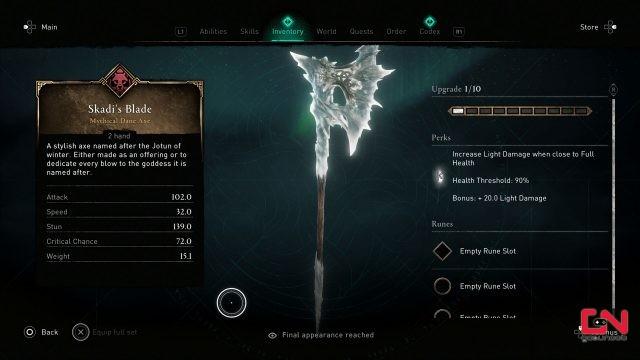 how to get skadis blade in ac valhalla mastery challenge update