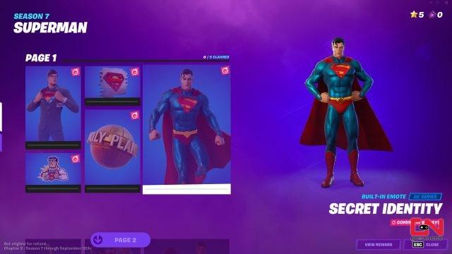 unlock superman & clark kent fortnite skin