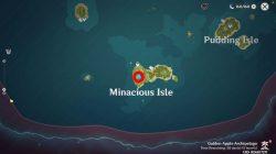 where to find genshin impact upside down barrier minacious isle