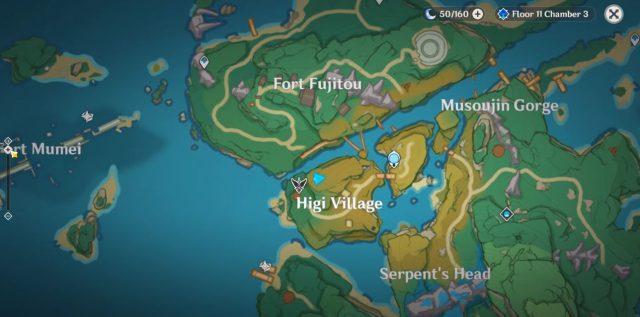 Higi Village Sword Chest Puzzle Genshin Impact