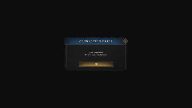 New World Black Screen Queue Connection Error Freezing Bug Solutions