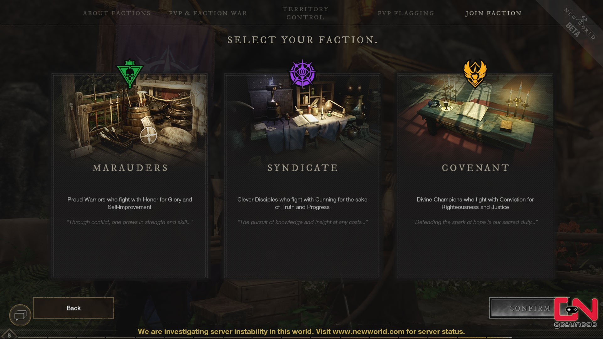 New World Factions - Which Faction to Join
