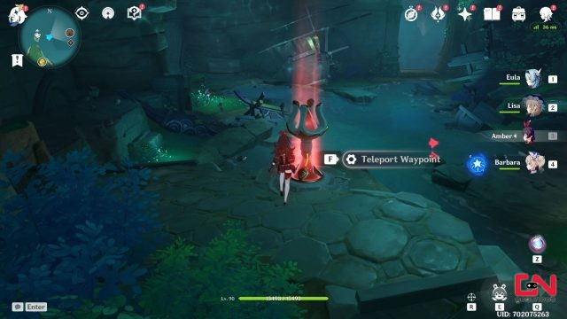 unlock inazuma underwater teleport waypoint genshin impact
