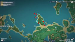 where to find genshin impact takashi mysterious conch locations