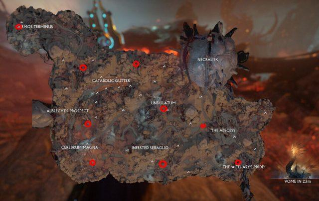 Fallen Necramech spawn locations