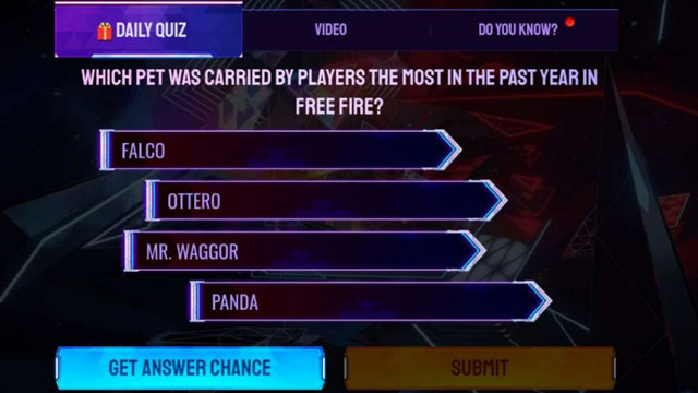 which pet was carried by players the most in free fire anniversary event
