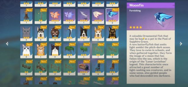 Catch 5 Special Fish Moonfins in The Lunar Realm - Get Moonstringer Genshin Impact